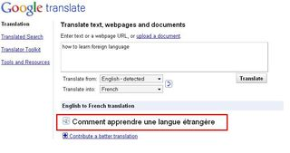 Google translator